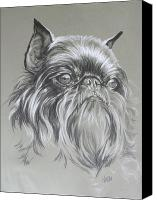 Pets Canvas Prints - Belgian Griffon Canvas Print by Barbara Keith