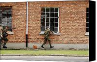 Foot Patrol Canvas Prints - Belgian Soldiers On Patrol Canvas Print by Luc De Jaeger