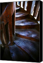 Spiral Staircase Canvas Prints - Bell tower steps II Canvas Print by John  Bartosik