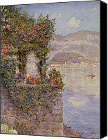 Hill Town Canvas Prints - Bellagio from Tremezzo Canvas Print by Ernest Arthur Rowe