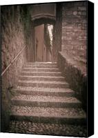 Lago Di Como Canvas Prints - Bellagio Stairs Canvas Print by Chuck Parsons