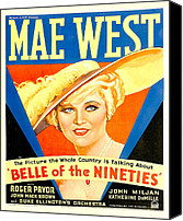 1930s Movies Canvas Prints - Belle Of The Nineties, Mae West, 1934 Canvas Print by Everett