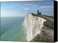 Cliff Canvas Prints - Belle Tout Lighthouse, East Sussex. Canvas Print by Philippe Cohat