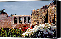 Mission Bells Canvas Prints - Bells of Mission San Juan Capistrano Canvas Print by Linda  Parker
