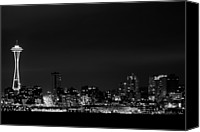 Seattle Waterfront Canvas Prints - Belltown & Space Needle Canvas Print by Andrew A Smith