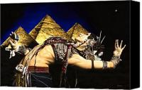 Night Sky Painting Canvas Prints - Bellydance of the Pyramids - Rachel Brice Canvas Print by Richard Young