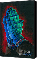 Monster Painting Canvas Prints - Belong Dead Canvas Print by Ben Von Strawn