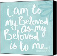 Writing Canvas Prints - Beloved Canvas Print by Linda Woods