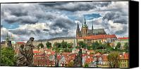 Charles Bridge Canvas Prints - Below the Castle Canvas Print by Jason Wolters