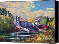 Landmarks Canvas Prints - Belvedere Castle Central Park Canvas Print by David Lloyd Glover