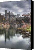 Belvedere Castle Canvas Prints - Belvedere Castle Vertical Canvas Print by Ariane Moshayedi