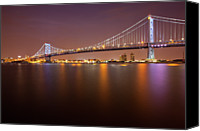 Philadelphia Canvas Prints - Ben Franklin Bridge Canvas Print by Richard Williams Photography