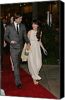 Golden Globe Canvas Prints - Ben Gibbard, Zooey Deschanel Canvas Print by Everett