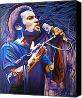 Singer Painting Canvas Prints - Ben Harper and Mic Canvas Print by Joshua Morton