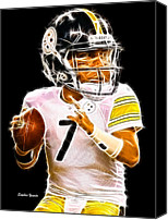 Football Digital Art Canvas Prints - Ben Roethlisberger Canvas Print by Stephen Younts