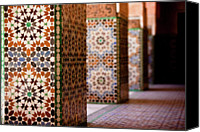 Morocco Canvas Prints - Ben Youssef Medersa Canvas Print by Kelly Cheng Travel Photography