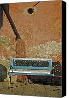 Dilapidated House Canvas Prints - Bench Canvas Print by Joana Kruse