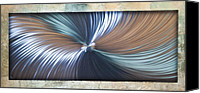 Textured Sculpture Canvas Prints - Bending Light Canvas Print by Rick Roth