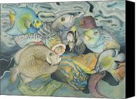 Fish Canvas Prints - Beneath the surface Canvas Print by Liduine Bekman