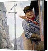 Bandana Canvas Prints - Beneker: The Engineer, 1913 Canvas Print by Granger