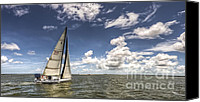 Sail Canvas Prints - Beneteau first 40.7 Canvas Print by Dustin K Ryan