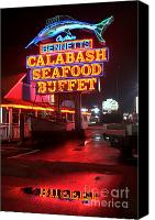 Photographers Atlanta Canvas Prints - Bennetts Calabash Seafood Buffet Myrtle Beach Canvas Print by Corky Willis Atlanta Photography