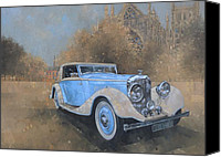 Transportation Painting Canvas Prints - Bentley by Kellner Canvas Print by Peter Miller