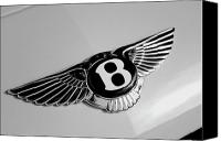 Transportation Tapestries Textiles Canvas Prints - Bentley Canvas Print by Kurt Golgart