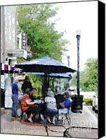 Powell Street Digital Art Canvas Prints - Bentonville On The Square Canvas Print by Ann Powell