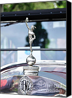 Badge Canvas Prints - Benz 1916 DS2 - Hood Ornament and Badge Canvas Print by Kaye Menner