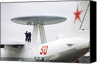 Awacs Canvas Prints - Beriev A-50, Russian Awacs Aircraft Canvas Print by Ria Novosti