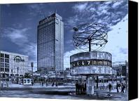 Duplex Canvas Prints - Berlin Alexanderplatz Canvas Print by Joachim G Pinkawa
