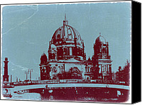Berlin Canvas Prints - Berlin Cathedral Canvas Print by Irina  March