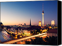 Rathaus Photo Canvas Prints - Berlin Skyline II Canvas Print by Alexander Voss