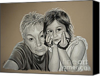 Joe Dragt Canvas Prints - Bernice and Grace Canvas Print by Joe Dragt