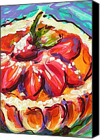 Torte Canvas Prints - Berry Berry Torte Canvas Print by Judy  Rogan