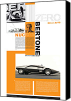Racecar Canvas Prints - Bertone Poster Canvas Print by Irina  March