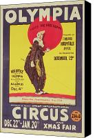 Fun Fair Canvas Prints - Bertram Mills circus poster Canvas Print by Dudley Hardy