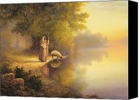 Shore Painting Canvas Prints - Beside Still Waters Canvas Print by Greg Olsen