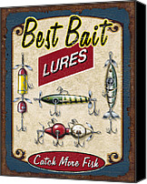 Collectable Painting Canvas Prints - Best Bait Lures Canvas Print by JQ Licensing
