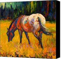 Cowboy Canvas Prints - Best End Of An Appy Canvas Print by Marion Rose