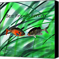 Buddies Canvas Prints - Best Friends Forever Canvas Print by Terril Heilman