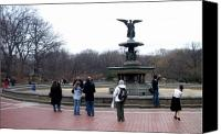 Bethesda Fountain Canvas Prints - Bethesda Fountain Canvas Print by Anita Burgermeister