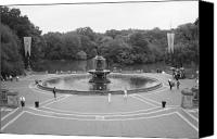 Bethesda Fountain Canvas Prints - Bethesda Fountain Central Park New York Canvas Print by Christopher Kirby