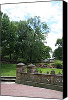 Balusters Canvas Prints - Bethesda Terrace - Central Park Canvas Print by Christiane Schulze