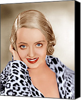 1930s Hairstyles Canvas Prints - Bette Davis, Ca. 1932 Canvas Print by Everett