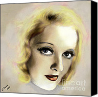 Silver Screen Actress Canvas Prints - Bette Davis Eyes Canvas Print by Arne Hansen