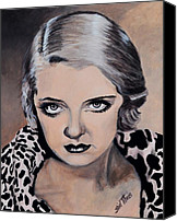 All-star Painting Canvas Prints - Bette Davis Canvas Print by Shirl Theis