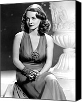 Publicity Shot Canvas Prints - Bette Davis, Warner Brothers, 1940s Canvas Print by Everett