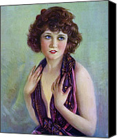 Illustrator Canvas Prints - Betty Compson 1920 Canvas Print by Stefan Kuhn